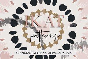 Ikat Seamless Patterns