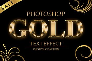 Gold Text Effect Photoshop Action