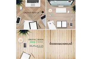 Concept of Creative Office Workspace