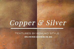 Copper & Silver Textures