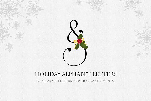 Illustrations and Illustration Products: Maggie Stilwell Design - Holiday Alphabet Design Set