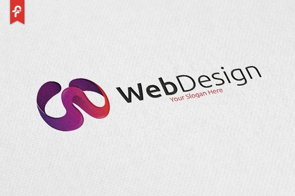 Web design logo logo templates creative market for Logo site web