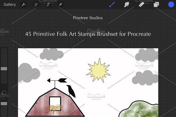Procreate Primitive Folk Art Stamps