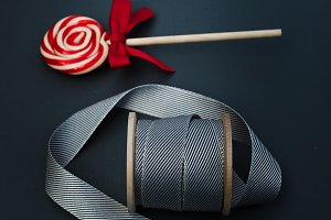 Dark Ribbon & Candy Cane Holidays
