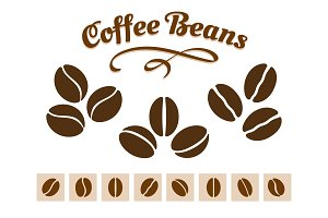 Coffee beans set
