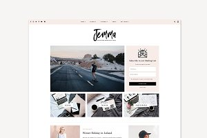 WordPress Theme, Feminine, Jemma