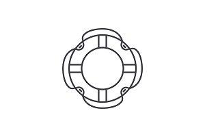 Insuarance lifebuoy line icon