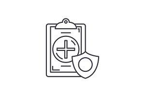 Insurance line icon concept