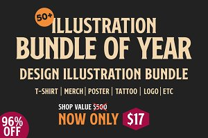 50+ Illustration Bundle Of Year