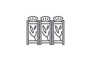 Interior partitions line icon