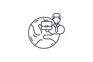 International business line icon