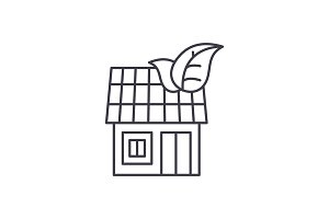 It house line icon concept. It house