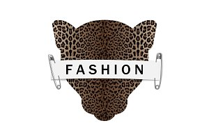 Fashion T-shirt print with leopard