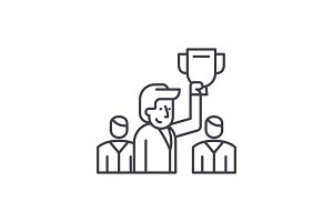 Leader line icon concept. Leader