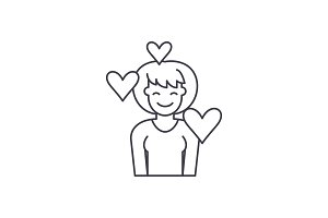 Love line icon concept. Love vector