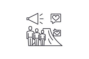 Ltv line icon concept. Ltv vector