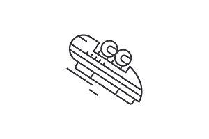 Luge line icon concept. Luge vector