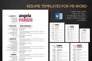 Simple 3 in 1 Word resume pack