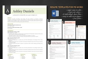 3 in 1 Banner Word resume pack