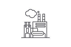 Manufacturing facility line icon