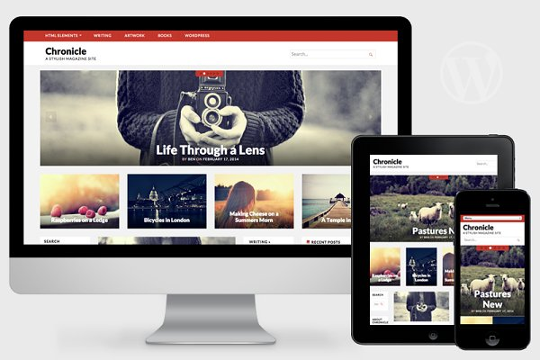 WordPress Magazine Themes: Pro Theme Design - Chronicle - Magazine Theme