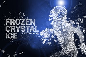 Frozen Crystal Ice Photoshop Action