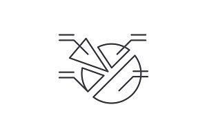 Market analysis line icon concept
