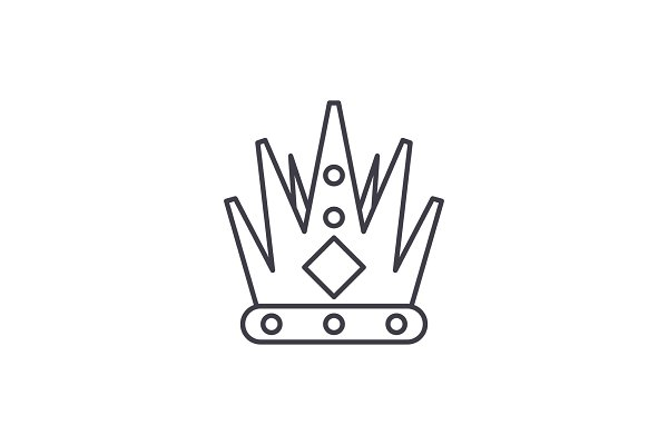 King's crown line icon concept. Kin…