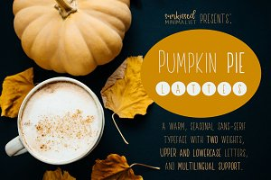 Pumpkin Pie Lattes - A Warm Font