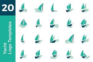 20 Logo Yacht Template Bundle