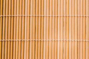 Interlaced sushi bamboo mat texture