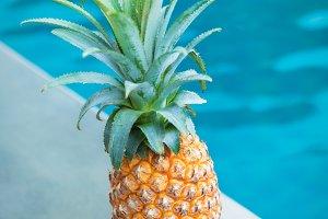 Fresh yellow pineapple tropic fruit
