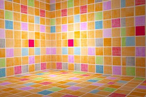 Colored tiles background