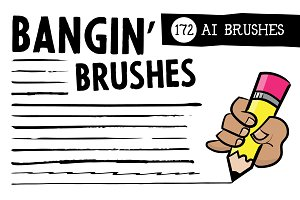 Bangin' Brushes - 172 Vector Brushes