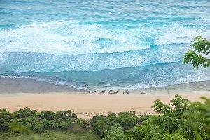 Nyang Nyang white sands beach on Bal