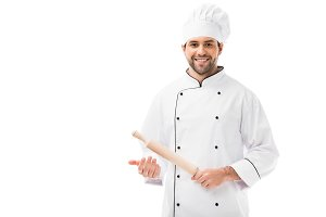 handsome young chef
