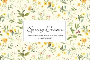 Flower Clip Art - Spring Dream