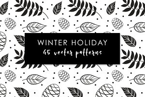Winter Holiday Vector Pattern