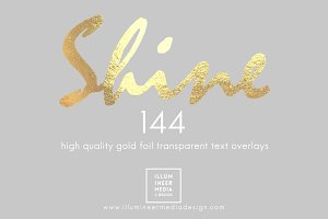 GOLD FOIL WORD OVERLAYS