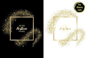 Golden Glitter Frame