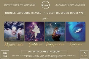 DOUBLE-EXPOSURE & GOLD WORDS - SET 2