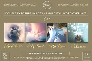 DOUBLE-EXPOSURE & GOLD WORDS - SET 1