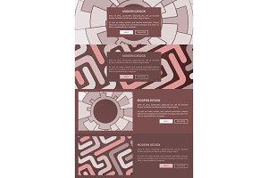 Modern Design Web Pages Set Vector