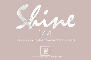 SILVER FOIL WORD OVERLAYS