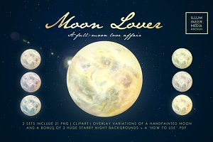 MOON LOVER MAGICAL MOON PNG OVERLAYS