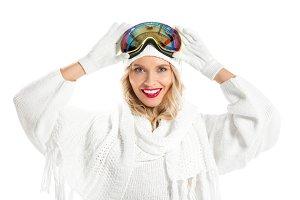 Beautiful young woman in winter clot