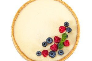 Cheesecake with berries