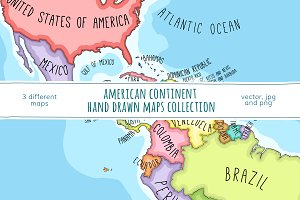 American Continent Maps Collection