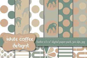Fawn digital paper in neutral colors