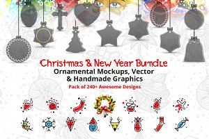 Christmas New Year Mockups & Graphic